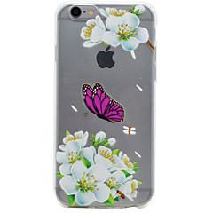 Недорогие Кейсы для iPhone 5-Кейс для Назначение IPhone 7 / iPhone 7 Plus / iPhone 6s Plus iPhone 7 / iPhone 6 / Кейс для iPhone 5 Прозрачный / Рельефный / С узором Кейс на заднюю панель Цветы Мягкий ТПУ для iPhone SE / 5s