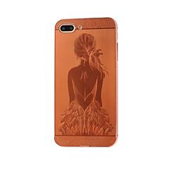 Для Покрытие / Рельефный / С узором Кейс для Задняя крышка Кейс для Соблазнительная девушка Твердый Металл AppleiPhone 7 Plus / iPhone 7