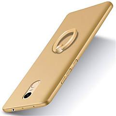 Mert Mi tok Állvánnyal Tartó gyűrű Jeges Case Hátlap Case Egyszínű Kemény PC mert XiaomiXiaomi Redmi 4X Xiaomi Redmi Note 4 Xiaomi Mi 6