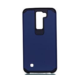 Недорогие Чехлы и кейсы для LG-Кейс для Назначение LG K8 LG LG K10 LG K7 Защита от удара Кейс на заднюю панель Сплошной цвет Твердый ПК для LG G4 Stylus / LS770