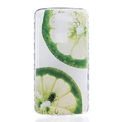 Til lg k7 k8 citron mønster tpu materiale meget gennemsigtig telefon taske til lg k7 k8 k10 g5