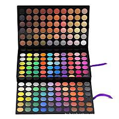 180 Paleta de Sombras Mate / Brilho Paleta da sombra Creme Grande Maquiagem para o Dia A Dia