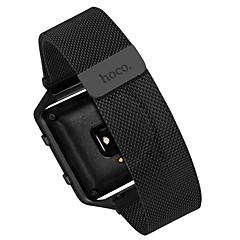 Черный / Серебристый Нержавеющая сталь Миланский ремешок Для Fitbit Смотреть 23мм