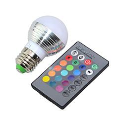 e14 e26 / e27 lâmpadas globo led g45 1 led de alta potência 250lm rgb rgb k dimmable controle remoto decorativo