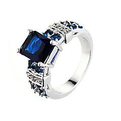 preiswerte Ringe-Damen Kubikzirkonia Ring - Zirkon, Aleación Personalisiert, Modisch 6 / 7 / 8 / 9 / 10 Rosa / Hellblau / Champagner Für Hochzeit Party Alltag