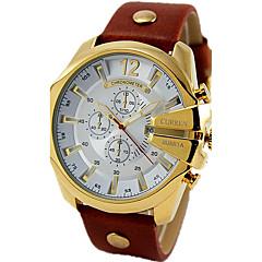 preiswerte Tolle Angebote auf Uhren-CURREN Herrn Sportuhr / Militäruhr / Armbanduhr Armbanduhren für den Alltag / Cool Leder Band Luxus / Retro / Freizeit Schwarz / Braun / Sony S626 / Zwei jahr