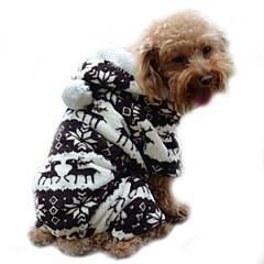 お買い得  犬用ウェア&アクセサリー-犬 パーカー ジャンプスーツ パジャマ 犬用ウェア トナカイ グレー コーヒー ブルー ピンク コーデュロイ コスチューム ペット用 男性用 女性用 キュート 保温