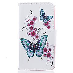 tanie Etui / Pokrowce do LG-Dla lg k10 k8 motyl malowanie obraz pu materiał pokrywa telefonu dla lg lg k10 k8 k7