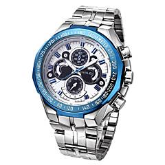 preiswerte Tolle Angebote auf Uhren-WWOOR Herrn Quartz Armbanduhr / Sportuhr Wasserdicht / Punk / Cool / Nachts leuchtend Edelstahl Band Luxus / Retro / Freizeit / Modisch