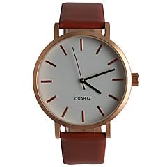 Simple Fashion Leisure Men's Brown Quartz Watch