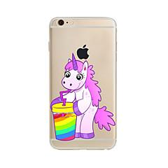 お買い得  iPhone 5S/SE ケース-ケース 用途 Apple iPhone X / iPhone 8 Plus / iPhone 7 半透明 / パターン バックカバー ユニコーン ソフト TPU のために iPhone X / iPhone 8 Plus / iPhone 8