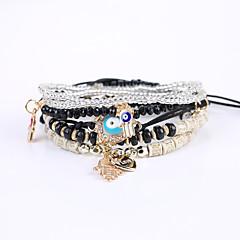 preiswerte Armbänder-Perlenbesetzt Strang-Armbänder Armband - Harz Europäisch, Modisch, nette Art Armbänder Schwarz / Rosa / Hellblau Für Weihnachts Geschenke Hochzeit Geschäft