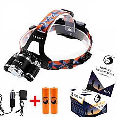 preiswerte Stirnlampen-ZQ-G808 Kopfband für Taschenlampen LED 8500LM Lumen 4.0 Modus Cree XM-L T6 2 x Batterien 18650 einstellbarer Fokus Winkelkopf Super