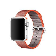 Zegarek na zegarek jabłkowy 42mm 38mm klasyczna klamra tkana nylonowa wymiana paska na piersi