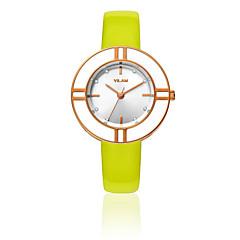 お買い得  大特価腕時計-女性用 リストウォッチ クォーツ 30 m 耐水 模造ダイヤモンド レザー バンド ハンズ ぜいたく 光沢タイプ ファッション 白 - レッド ブルー ハンターグリーン