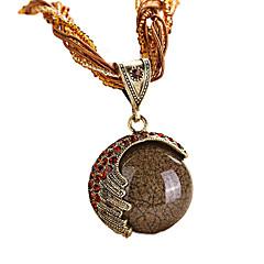 preiswerte Halsketten-Damen Türkis Gedreht Anhängerketten - Böhmische, Europäisch, Modisch Rot, Grün, Blau 42+5 cm Modische Halsketten Schmuck 1pc Für Party, Geburtstag, Geschenk