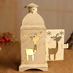 고대 방법에게 크리스마스 천사 모종 촛대 단 철 허리케인 램프 가구 기사 19 * 7 * 7cm 복원