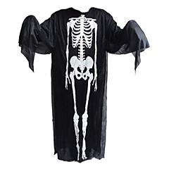 1db halloween ruhák és szellem kesztyűt és üvölteni csontváz maszk