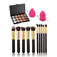 15 Concealer/Contour+Concealer+Others+Poederdons/Cosmeticaspons / Make-up borstels Nat GezichtBedekking / Concealer / Oneffen huidtint /