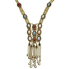 preiswerte Halsketten-Damen Perle Mehrschichtig Quaste Lang Anhängerketten / Statement Ketten - Perle Quaste, Böhmische, Modisch Silber, Golden 80 cm Modische Halsketten Schmuck Für Party, Alltag, Normal