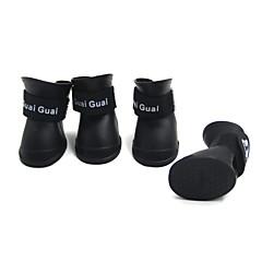 Köpek Ayakkabılar ve Botlar Su Geçirmez Mor Sarı Mavi Pembe Evcil hayvanlar için