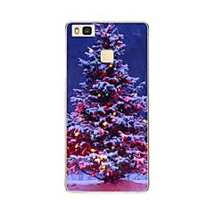 Χαμηλού Κόστους Θήκες / Καλύμματα για Huawei-Για huawei p9 p9 lite Χριστουγεννιάτικο δέντρο tpu μαλακό κάλυμμα περίπτωση για p8 p8 lite
