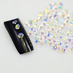 billige Krystal rhinsten-120pcs klare søm rhinestones negle kunst glitter krystaller dekorationer værktøjer diy ikke hotfix rhinestone indretning glas sten SS8 ab