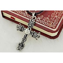Недорогие Ожерелья-Муж. Крест - На заказ / Мода / Религиозные Серебряный Ожерелье Назначение Повседневные