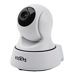 veskys® camera ip 1.0mp t4 720p Wi-Fi de securitate (zi de noapte / mișcare de detectare / de acces la distanță / IR-cut / plug and play)