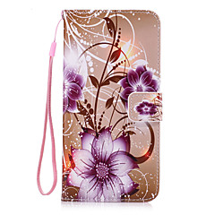 Для Бумажник для карт / Кошелек / со стендом / Флип Кейс для Задняя крышка Кейс для Цветы Твердый Искусственная кожа для AppleiPhone 7