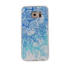 Для примечания галактики samsung примечание 5 примечание 4 крышка случая голубая и белая покрашенная картина tpu материал случай телефона