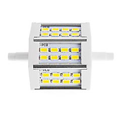 cheap LED Bulbs-450lm R7S LED Floodlight Tube 24 LED Beads SMD 5730 Decorative Warm White Cold White 85-265V 220-240V