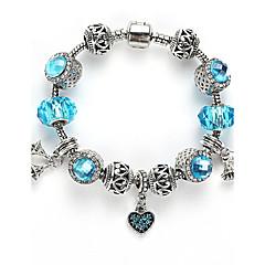preiswerte Armbänder-Damen Kristall Perlenbesetzt Strang-Armbänder - Europäisch Armbänder Blau / Rosa / Hellblau Für Hochzeit Geburtstag Herzliche Glückwünsche