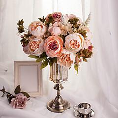 """1 Bunch 1 şube İpek / Strafor Şakayıklar Masaüstü Çiçeği Yapay Çiçekler Total Length:18.5"""""""