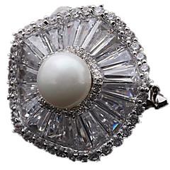 お買い得  ブローチ-女性 ブローチ 高級ジュエリー 真珠 ジュエリー 用途 日常