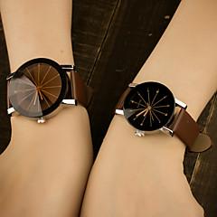 preiswerte Herrenuhren-Herrn Quartz Armbanduhr Mehrfarbig / Leder Band Freizeit Modisch Blau
