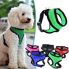 Perro Bozales Ajustable / Retractable Transpirable Un Color Nailon Malla Morado Rosa Rojo Verde Azul