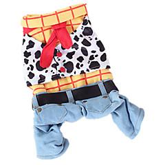 voordelige Hondenkleding & -accessoires-Hond kostuums Jumpsuits Hondenkleding Cowboy Modieus Jeans Regenboog Kostuum Voor huisdieren