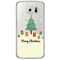 Funda Para Samsung Galaxy S7 edge S7 Ultrafina Traslúcido Cubierta Trasera Navidad Suave TPU para S7 edge S7 S6 edge S6 S5