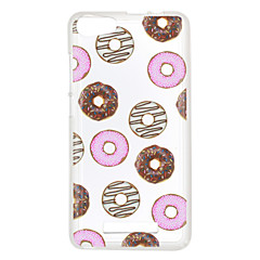 Voor wiko lenny 3 zonsondergang 2 case cover donuts patroon achterkant zachte tpu lenny 3 zonsondergang 2