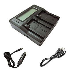 ismartdigi VF823 815 lcd double chargeur avec câble de charge de voiture pour jvc VF823 u 815 batterys caméra u