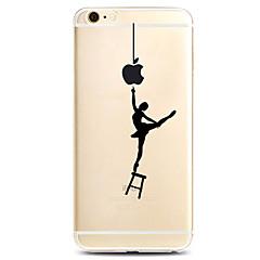Na iPhone X iPhone 8 iPhone 7 iPhone 7 Plus iPhone 6 Etui Pokrowce Wzór Etui na tył Kılıf Seksowna dziewczyna Miękkie Poliuretan