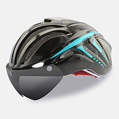 FTIIER Bike Helmet CE Certification Cycling 18 Vents Adjustable One Piece Helmet with Googles Urban Full-Face Aero Helmet Sports Youth