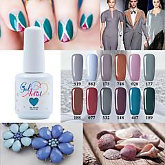 Esmalte de Uñas Gel UV 15ml 1picec Brillante / Esmalte Gel UV de Color Empapa de Larga Duración