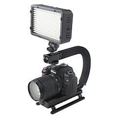 yelangu c formă suport de prindere consola video flash stabilizator portabil pentru dslr mini-camera video digitală SLR