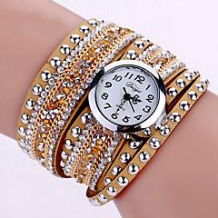 preiswerte Tolle Angebote auf Uhren-Damen Armband-Uhr Armbanduhr Quartz leuchtend Cool Imitation Diamant PU Band Analog Charme Glanz Retro Schwarz / Blau / Silber - Rot Rosa Hellblau