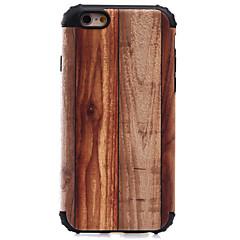 Недорогие Кейсы для iPhone 5-Кейс для Назначение Apple Кейс для iPhone 5 iPhone 6 iPhone 7 Защита от удара С узором Кейс на заднюю панель Имитация дерева Твердый ПК