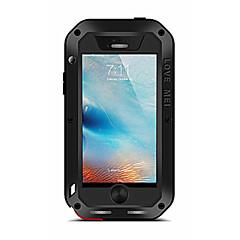 Для Вода / Грязь / Надежная защита от повреждений Кейс для Чехол Кейс для Один цвет Твердый Металл Apple iPhone SE/5s/5
