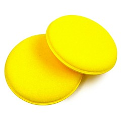 ZIQIAO 2PCS Anti-Scratch Car Circle Cleaning Wax/Polish Yellow Foam Sponges Pad Car Cleaning Tool Car Care