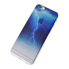 Недорогие Кейсы для iPhone 6 Plus-Кейс для Назначение Apple Кейс для iPhone 5 iPhone 6 iPhone 7 Полупрозрачный Кейс на заднюю панель Цвет неба Пейзаж Мягкий ТПУ для iPhone